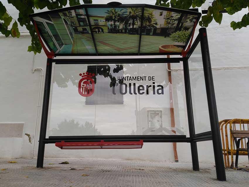 L olleria estrena mobiliario urbano r3 recymed s l for Agora mobiliario s l
