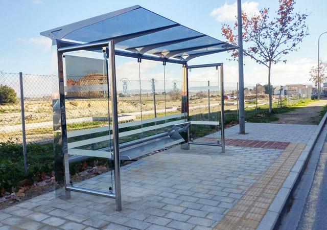 marquesina silver es parada de autobús mobiliario urbano para ciudad