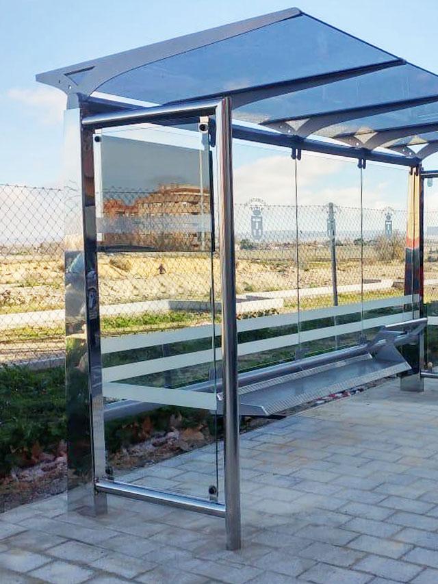 Marquesina silver parada de autobús especial para ayuntamiento y ciudad