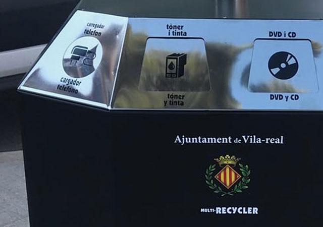 Papelera multi-recycler reciclaje mobiliario urbano R3 Recymed