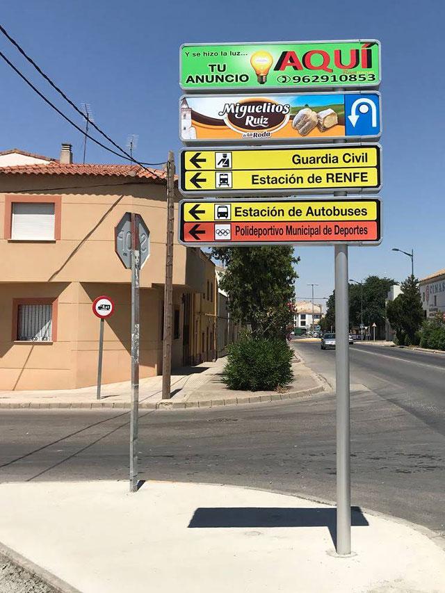 Señalización Mobiliario urbano señales para ciudad
