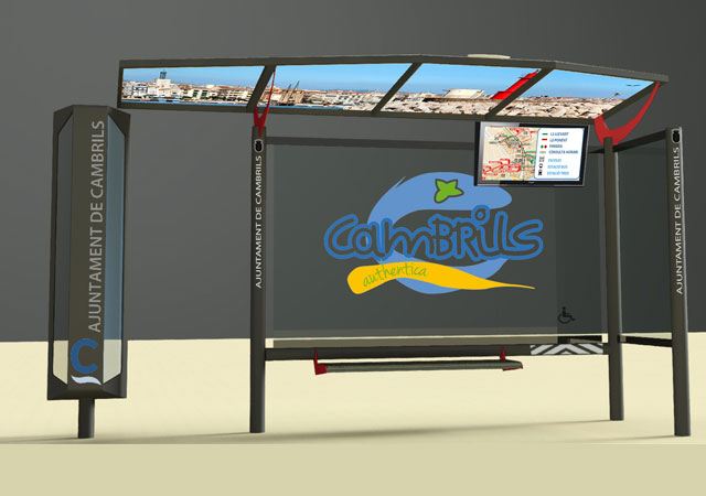 marquesina inteligente iwait mobiliario urbano para smart city
