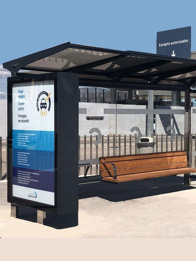 Marquesina solar mobiliario Smart City R3 Recymed