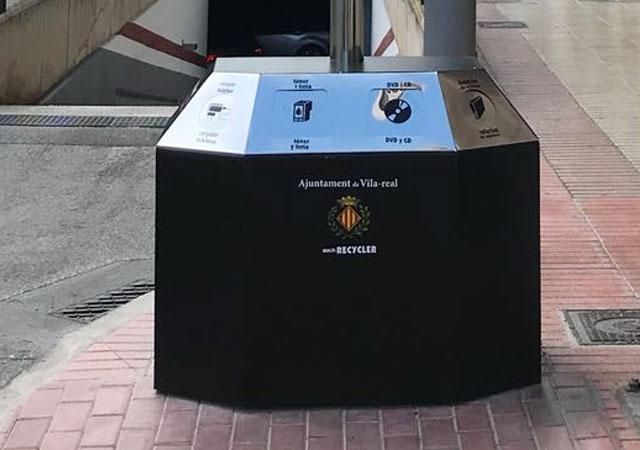Papelera multi-recycler mobiliario urbano R3 Recymed