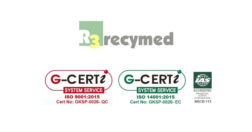 Certificación ISO9001 ISO14001 r3 Recymed